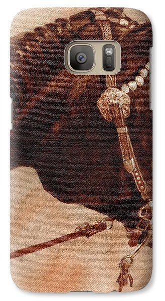 Galaxy Case featuring the painting Sissy by Pam Talley