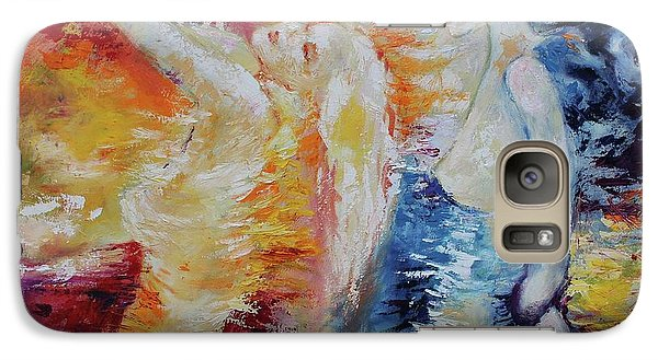 Galaxy Case featuring the painting Sisters by Marat Essex