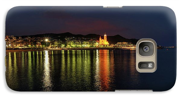 Galaxy Case featuring the photograph Sitges Night 001 by Lance Vaughn