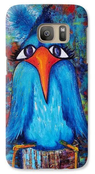Galaxy Case featuring the painting Sittin' At The Dock Of The Bay by Vickie Scarlett-Fisher