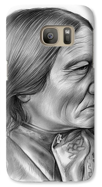 Bull Galaxy S7 Case - Sitting Bull by Greg Joens