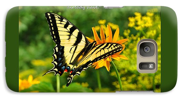 Galaxy Case featuring the photograph Sitting Pretty Giving by Diane E Berry