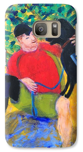 Galaxy Case featuring the painting One Team Two Heroes-4 by Donald J Ryker III