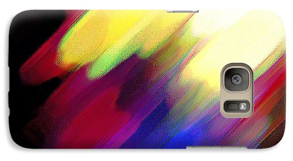 Galaxy Case featuring the painting Sivilia 1 Abstract by Donna Corless