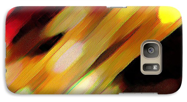 Galaxy Case featuring the painting Sivilia 11 Abstract by Donna Corless