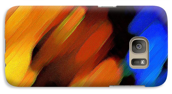 Galaxy Case featuring the painting Sivilia 3 Abstract by Donna Corless