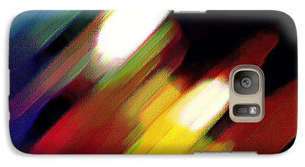 Galaxy Case featuring the painting Sivilia 5 Abstract by Donna Corless