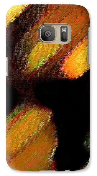 Galaxy Case featuring the painting Sivilia 6 Abstract by Donna Corless