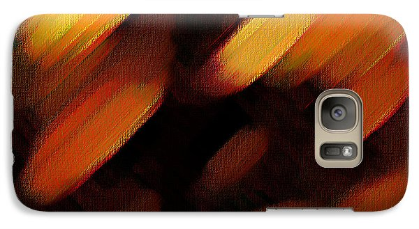 Galaxy Case featuring the painting Sivilia 7 Abstract by Donna Corless