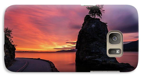 Galaxy Case featuring the photograph Siwash Rock Along The Sea Wall by Pierre Leclerc Photography