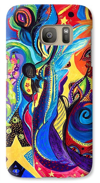Galaxy Case featuring the painting Guardian Angel by Marina Petro