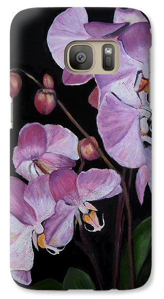 Galaxy Case featuring the painting Six Orchids by Sandra Nardone