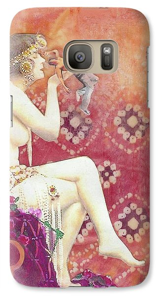 Galaxy Case featuring the mixed media Size Matters Da by Desiree Paquette