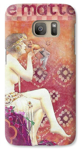 Galaxy Case featuring the mixed media Size Matters by Desiree Paquette