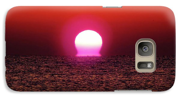Galaxy Case featuring the photograph Sizzling Sunrise by D Hackett