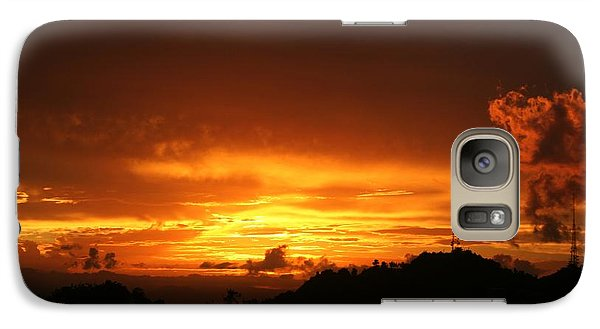 Galaxy Case featuring the photograph Sizzling Sunset by The Art of Alice Terrill