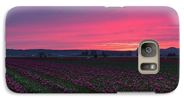 Galaxy Case featuring the photograph Skagit Valley Burning Skies by Mike Reid