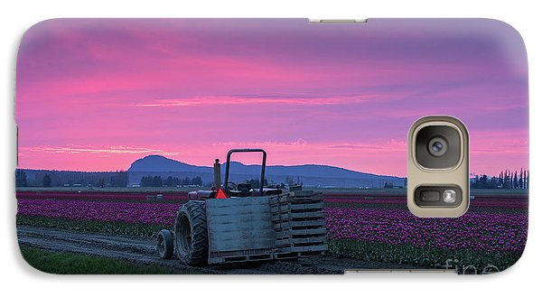 Galaxy Case featuring the photograph Skagit Valley Dusk Calm by Mike Reid