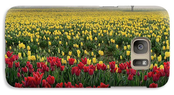 Galaxy Case featuring the photograph Skagit Valley Misty Morning by Dan Mihai