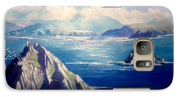 Galaxy Case featuring the painting Skelligs Ireland by Paul Weerasekera