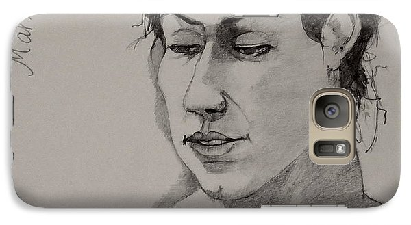 Galaxy Case featuring the drawing Sketch For Marie 2 by Ray Agius