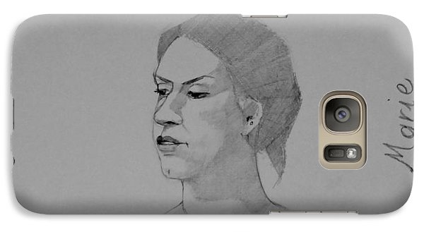 Galaxy Case featuring the drawing Sketch For Marie Seated by Ray Agius