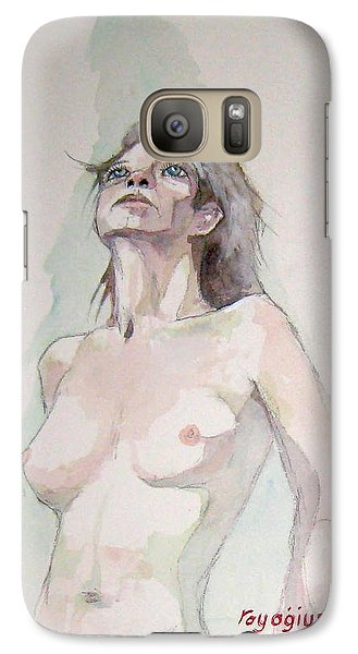 Galaxy Case featuring the painting Sketch For Megan Iv by Ray Agius