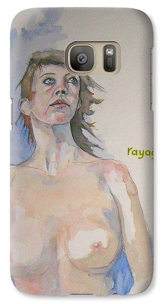 Galaxy Case featuring the painting Sketch For Megan V by Ray Agius