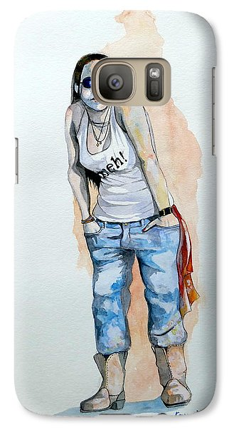 Galaxy Case featuring the painting Sketch For Meh by Ray Agius