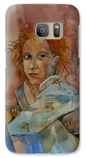 Galaxy Case featuring the painting Sketch For Sarah by Ray Agius