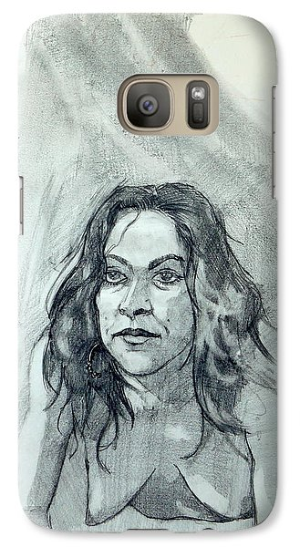 Galaxy Case featuring the painting Sketch For Sera.10.01 by Ray Agius