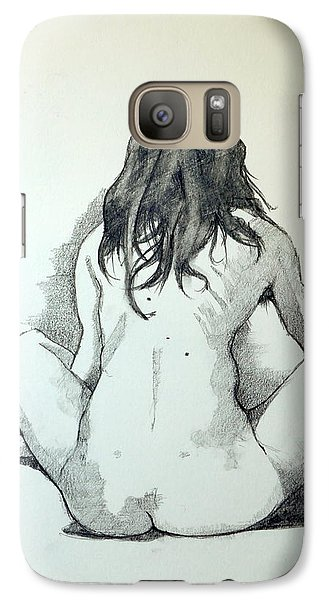 Galaxy Case featuring the painting Sketch For Sera.10.02 by Ray Agius