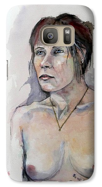 Galaxy Case featuring the painting Sketch For White Amber by Ray Agius