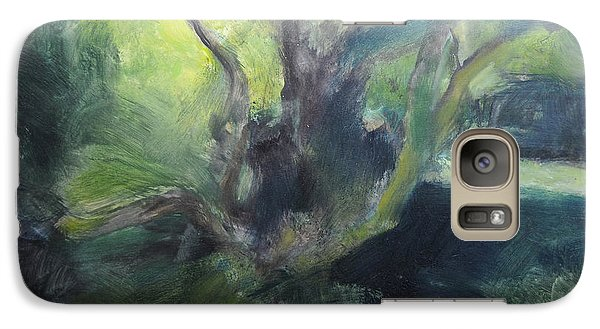 Galaxy Case featuring the painting Sketch Of A Shady Glade. by Harry Robertson