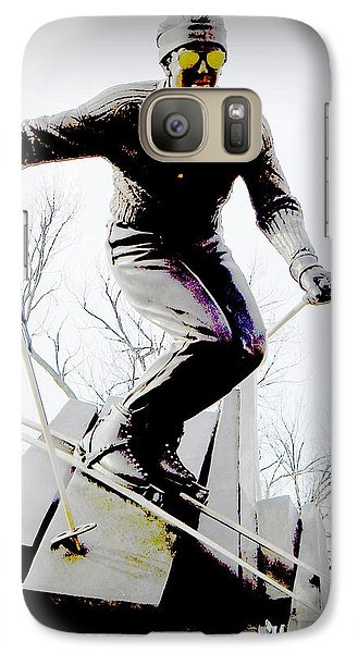 Galaxy Case featuring the photograph Ski On The Edge by Michelle Frizzell-Thompson