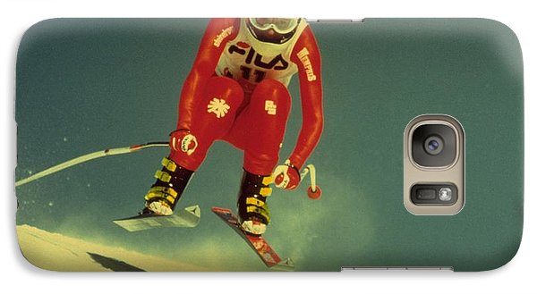 Galaxy Case featuring the photograph Skiing In Crans Montana by Travel Pics