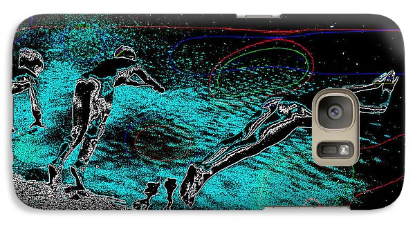 Galaxy Case featuring the mixed media Skinning Dipping by Charles Shoup