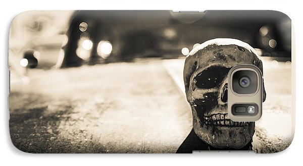 Galaxy Case featuring the photograph Skull Car by Lora Lee Chapman