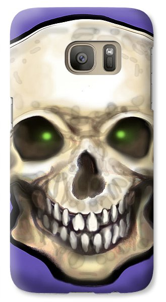 Galaxy Case featuring the painting Skull by Kevin Middleton