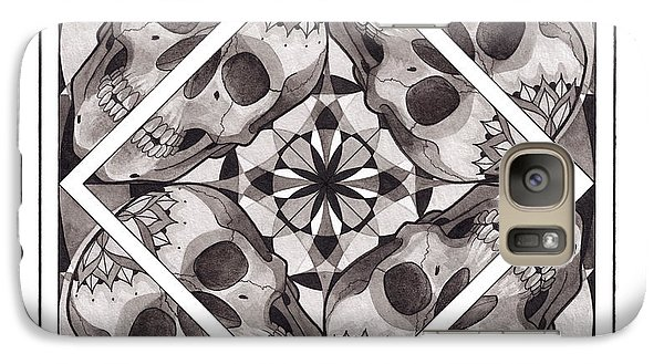 Skull Mandala Series Number Two Galaxy Case by Deadcharming Art