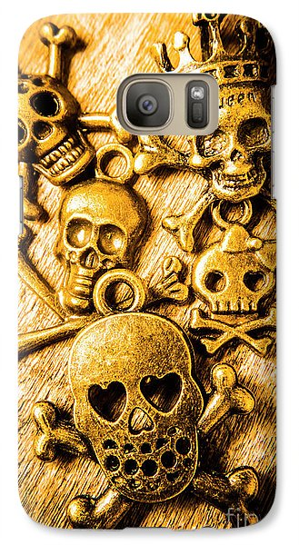 Galaxy S7 Case featuring the photograph Skulls And Crossbones by Jorgo Photography - Wall Art Gallery