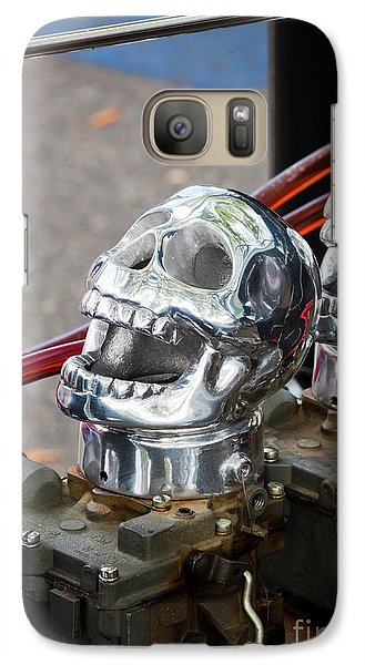 Galaxy Case featuring the photograph Skully by Chris Dutton