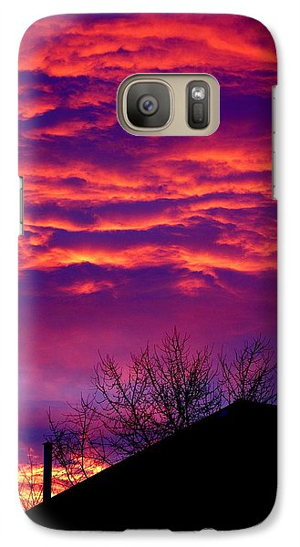 Galaxy Case featuring the photograph Sky Drama by Valentino Visentini