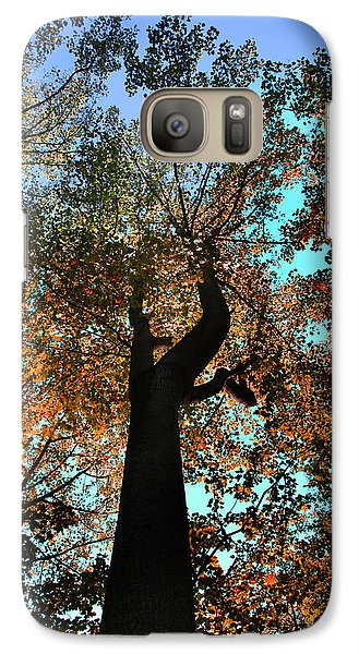 Galaxy Case featuring the photograph Sky Flower by Joseph G Holland