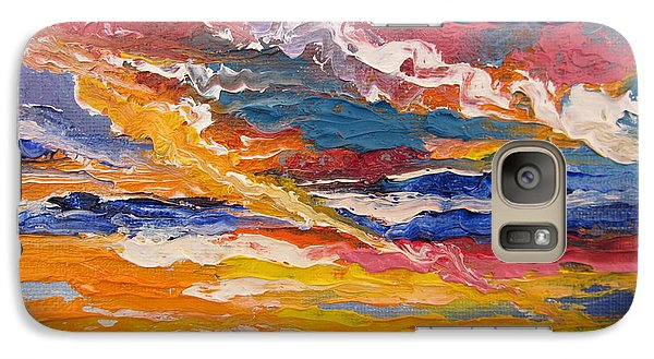 Galaxy Case featuring the painting Sky In The Morning by Sigrid Tune