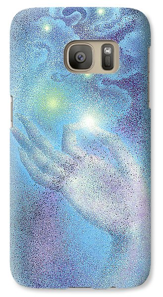 Galaxy Case featuring the painting Sky Mudra by Ragen Mendenhall