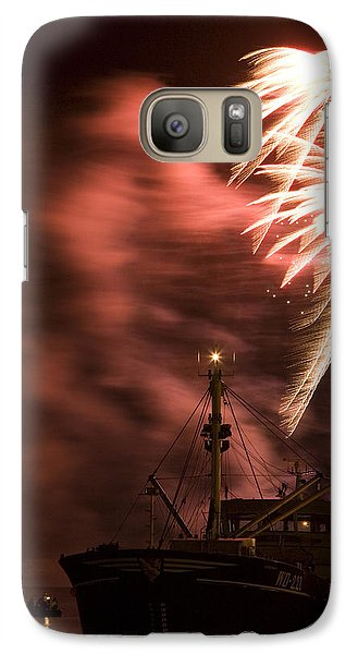 Galaxy Case featuring the photograph Sky On Fire by Ian Middleton