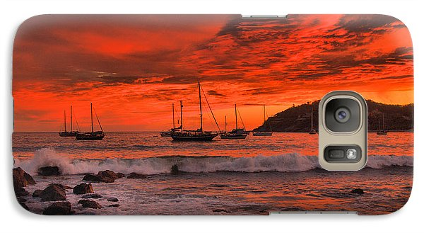 Galaxy Case featuring the photograph Sky On Fire by Jim Walls PhotoArtist