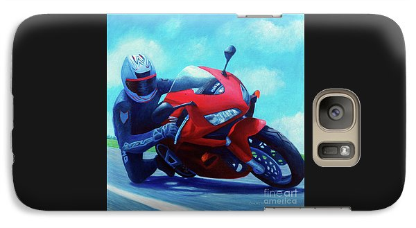 Sky Pilot - Honda Cbr600 Galaxy S7 Case by Brian  Commerford
