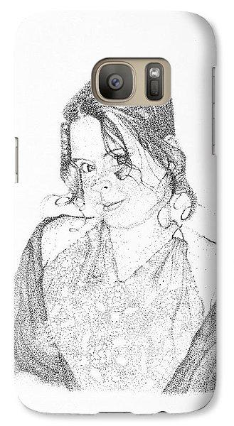 Galaxy Case featuring the drawing Skye by Mayhem Mediums